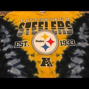 NFL Shirts - Vintage Pittsburgh Steelers Tie Dye Shirt L 3a6e3a144